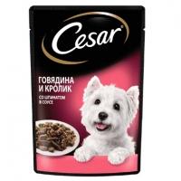 Цезарь 85гр - Говядина/Кролик/Шпинат, в соусе (Cezar)