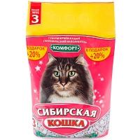 """Сибирская кошка """"Комфорт"""", впитывающий, 3л + 20% в подарок"""