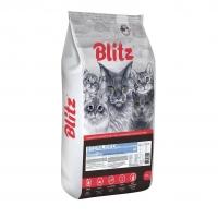 Блиц 10кг для кошек Стерилизованных Индейка (Blitz)