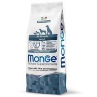 Монж Монопротеин корм для Собак всех пород 12кг, Форель (Monge)
