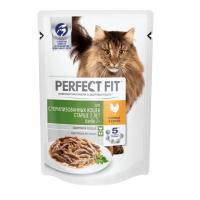 Перфект Фит 85гр - Курица, для кошек Стерилизованных Пожилых 7+, пауч (Perfect Fit)