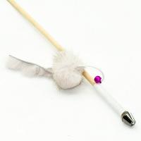 Дразнилка-удочка Норковый зверек 50см деревянная палочка (Кот Лукас)