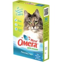Омега NEO для кошек - Выведение шерсти, с ржаным солодом, 90шт