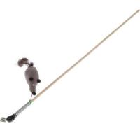 Дразнилка-удочка Мышь с Норковым хвостом (GoSi)