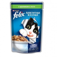 Феликс 85гр - Кролик (желе) (Felix)