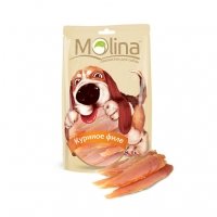 Молина 80гр - Куриное филе, лакомство для собак (Molina)