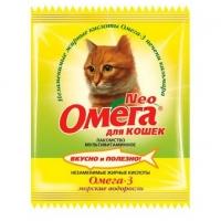 Омега NEO для кошек - Крепкое здоровье, морские водоросли, 15шт