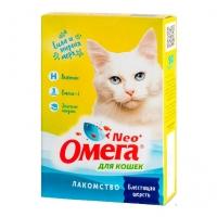 Омега NEO для кошек - Блестящая шерсть, биотин/таурин, 90шт
