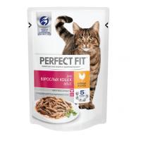 Перфект Фит 85гр - Курица, для взрослых кошек, пауч (Perfect Fit)