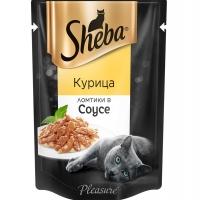 Шеба Плежер 85гр - Курица, соус (Sheba)