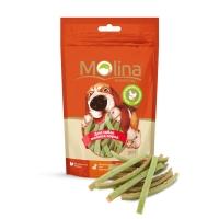 Молина 50гр - Куриные полоски со шпинатом, лакомство для мелких собак (Molina)
