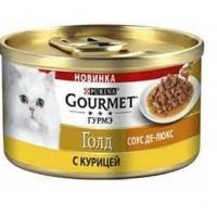 Гурме Голд 85гр - Курица, соус Де-Люкс (Gourmet)