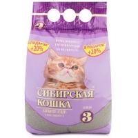 """Сибирская кошка """"Супер"""" для Котят, комкующийся, 3л + 20% в подарок"""