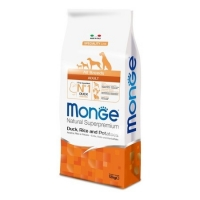 Монж Спешл корм для собак всех пород 12кг, Утка (Monge)