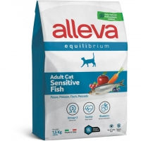 Аллева Эквилибриум 1,5кг - Рыба - Сенситив для взрослых кошек (Alleva Equilibrium)