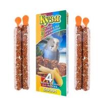 Кузя БМВ палочки для попугаев 4шт - Банан