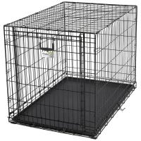 """Клетка для собак """"Ovation"""" (111х72х77h см) Черная, с торцевой вертикально-откидной дверью (Midwest)"""