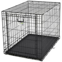 """Клетка для собак """"Ovation"""" (95х59х64h см) Черная, с торцевой вертикально-откидной дверью (Midwest)"""