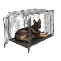 Клетка для собак (122х76х84см) Черная, 2 двери (Midwest Crate)