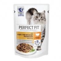 Перфект Фит 85гр - Индейка, для кошек с Чувствительным пищеварением, пауч (Perfect Fit)