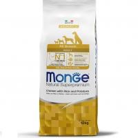 Монж Монопротеин корм для Собак всех пород 12кг, Курица и Картофель (Monge)