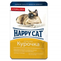 Хэппи Кэт пауч 100гр - Желе - Курица - Стерилизед (Happy Cat)
