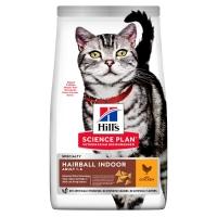 Хилс для кошек Домашних. Выведение шерсти. Курица. 10кг (Hill's) Хэйрболл Индор