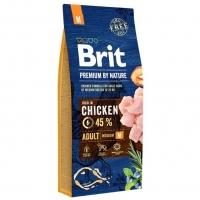 Брит 15кг для собак Средних пород Курица (Brit Premium by Nature)