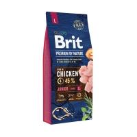 Брит 18кг для щенков Крупных пород Курица (Brit Premium by Nature)