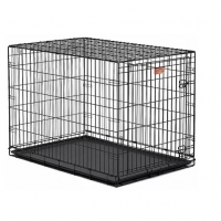Клетка для собак (106х71х76см) Черная, 1 дверь (Midwest Crate)