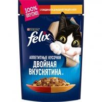 Феликс 85гр - Говядина/Птица (желе) (Felix)