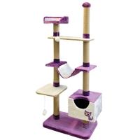 Комплекс многоуровневый для кошек (110х47х190см) арт.ЮТ22096-7 (Зооник)