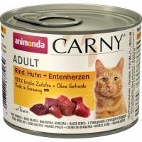 Карни 200гр - Говядина/Курица/Утка, для Кошек (Animonda Carny)