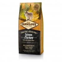 КарниЛав 12кг - для Крупных собак Лосось/Индейка, беззерновой (CarniLove)