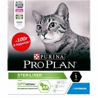 ПроПлан для кошек стерилизованных, Кролик. 300гр + 100гр (Pro Plan)
