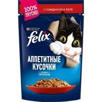 Феликс 85гр - Говядина (желе) (Felix)