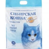 """Сибирская кошка """"Элитный"""" силикагель 16л - Синий"""