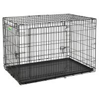 """Клетка для собак """"Contour"""" (123х77х82h см) Черная, 2 двери (Midwest)"""