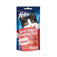 Феликс 60гр Говядина, хрустящее лакомство (Felix)
