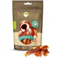 Молина 80гр - Куриные рулетики с бататом, лакомство для собак (Molina)