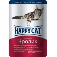 Хэппи Кэт пауч 100гр - Соус - Кролик (Happy Cat)