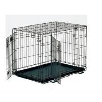Клетка для собак (106х71х76см) Черная, 2 двери (Midwest Crate)