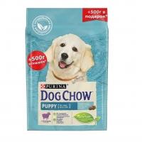 Дог Чау 2кг + 500гр для щенков Ягненок (Dog Chow)