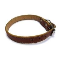 Ошейник №25 - кожаный 1 слой, без украшений