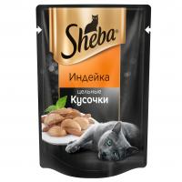 Шеба Плежер 85гр - Индейка, кусочки (Sheba)