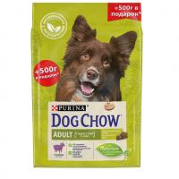 Дог Чау 2кг + 500гр для собак Ягненок (Dog Chow)