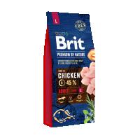 Брит 15кг для собак Крупных пород Курица (Brit Premium by Nature)