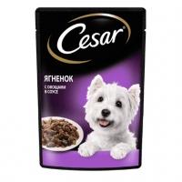 Цезарь 85гр - Ягненок и Овощи, в соусе (Cezar)