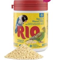 Рио - витаминно-минеральные гранулы для волнистых и средних попугаев 120гр (Rio)