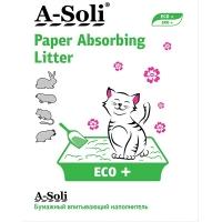 А-Соли бумажный впитывающий 12л (5,4кг) ЭКО+ Цветной/Классик (A-Soli)